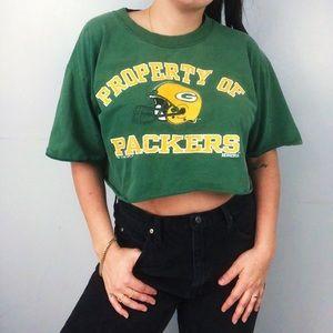 Vintage 96' Packers cropped Tee